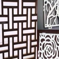 贵州艺术焊接铝合金屏风-木纹铝窗花厂家