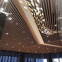 江西南昌弧形木纹铝方通-吊顶幕墙铝方通