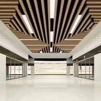 火车站室内木纹铝方通定制-木纹铝方通