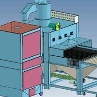 流水线 通过式全自动喷砂机 不锈钢板喷砂机