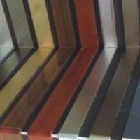 厂家直销木纹铝合金踢脚线型材
