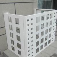 永州深灰色铝制空调外机保护罩厂家