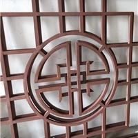 仿木纹铝窗花厂家-古典铝窗格定制