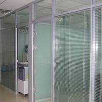 钢化玻璃隔断,钢化办公隔断,钢化铝合金隔断
