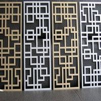 山东东营氟碳雕花铝单板
