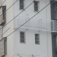南昌咖啡色铝合金空调罩效果装饰
