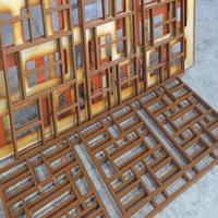 仿古铝窗花 仿木纹热转印铝合金艺术窗花