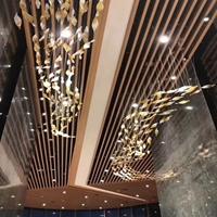吊顶集成弧形方管吊顶 木纹方通厂家直销