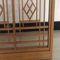 木纹铝合金窗花 氟碳漆铝合金焊接窗花