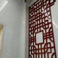 贵州毕节艺术焊接铝合金窗花 木纹色铝窗花