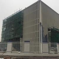 新能源专营店外墙装饰渐变孔铝单板