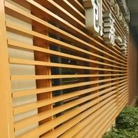 室内室外墙面弧形铝方通 白色木纹色铝通