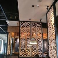中式艺术铝格栅屏风 厂家定制图案
