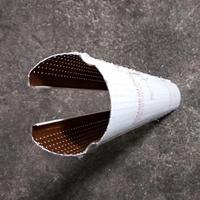 冲孔不规则圆管铝挂片天花 圆柱铝管