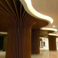 电影院室内装饰弧形铝方通