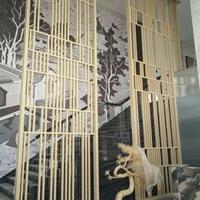 豪华咖啡厅韩式隔断铝窗花内饰厂家提供