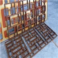 仿古街铝合金中式花格 木纹铝格栅