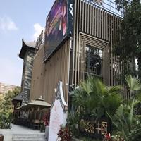 餐厅装饰大型规格木纹铝方管生产厂家
