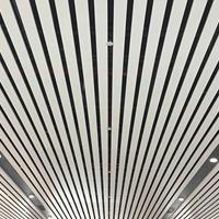 高鐵站吊頂鋁格柵 白色U形鋁方通