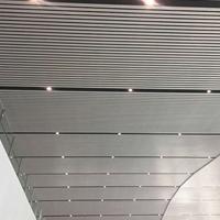 體育館吊頂鋁方通  白色鋁格柵天花