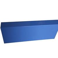 健身房彩色鋁方通吊頂 藍色u型鋁條板