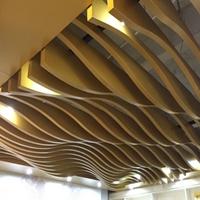 景區走廊焊接弧形鋁方通吊頂 大波浪S型