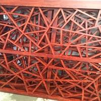 中式仿古木纹色冰裂纹铝窗花定制工艺