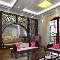 广州北京路餐厅隔断冰裂纹铝窗花屏风