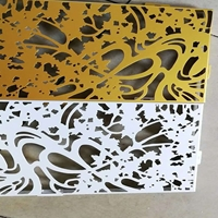 雕花铝窗花隔断价格实惠  新型铝窗花厂家