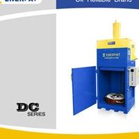 立式液压油桶压扁机 废铁桶压缩机