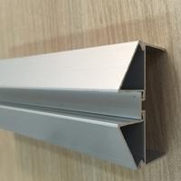 氧化銀白100凈化固定玻璃帶座槽窗料
