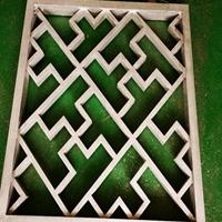 四川巴中木纹格子铝窗花-铝窗花厂家直供