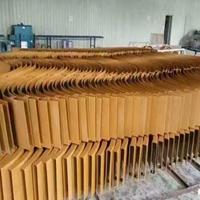 安徽合肥弧形木纹铝方通艺术装饰吊顶工程