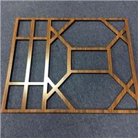 铝方管烧焊拼接花格窗 仿古式木纹铝窗格