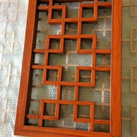 售樓部隔斷鋁窗花-仿古式鋁窗花