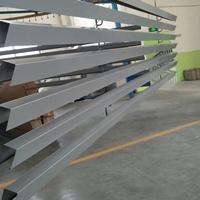 灰色U型铝方通格栅 冲孔铝方通