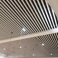 铝方通安装效果图学校白色铝方通吊顶铝方管