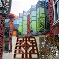 园林工程设计木纹铝窗花 铝花格