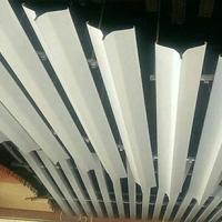 吊顶V型 蝴蝶型铝方通格栅天花批发