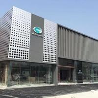 碳灰色铝格栅_广汽新能源外墙装饰铝单板
