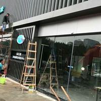 廣汽傳祺新能源專營店幕墻漸變孔鋁單板