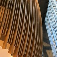 弧形铝方通厂家_木纹弧形铝方通吊顶