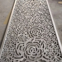 玫瑰花雕花幕墙铝单板 冲孔木纹铝单板