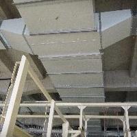 无缝不燃抗菌双面彩钢板玻纤复合风管