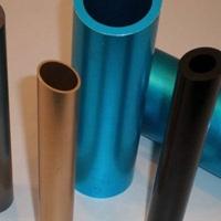 承接铝材阳极氧化精切CNC加工倒角彩色铝管