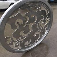 浙江省弧形雕花铝窗花-人工焊接铝窗花厂家