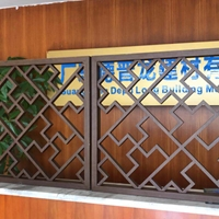 木纹铝窗花_古楼装饰木纹铝挂落