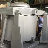 东莞定制液压翻转熔铝炉 可倾式电阻熔炼炉