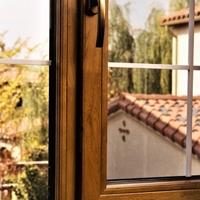 72铝木复合门窗 红橡实木