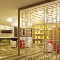 木色铝合金型材屏风 护栏